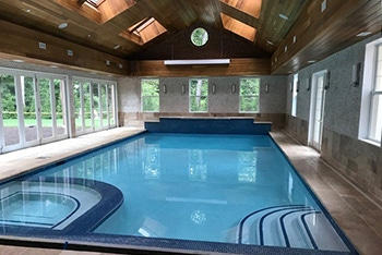 Pool with windows photo courtesy of Tri State Home Services