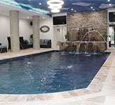 Residential indoor pool room controlled by ExpertAire dehumidifier