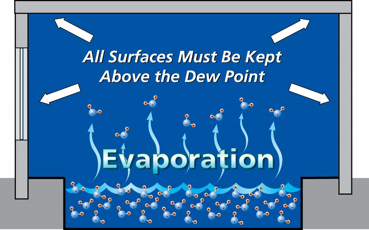 Figure 1 - Proper Dew Point of Pool Room Surfaces