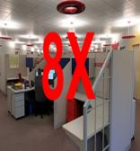 Indoor pool ventilation rate is 8 times more than an office space