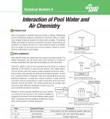 Interaction of Pool Water and Air Chemistry Technical Bulletin 9 Cover