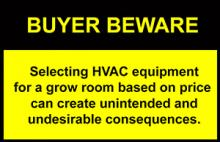 Beware when selecting grow room HVAC equipment