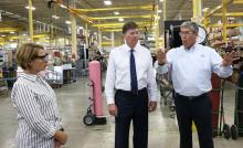 US Department of Commerce Peter Davidson Visits Desert Aire Shop Floor with President Keith Coursin